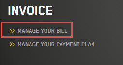 Manage your Bill
