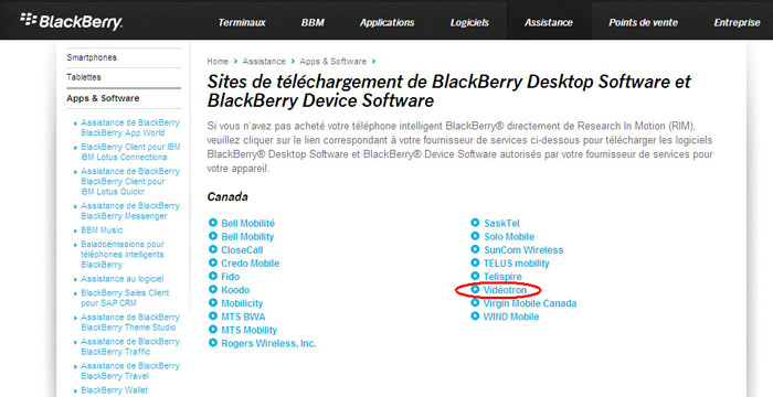 Blackberry curve 9360 upgrade | technical support | videotron.