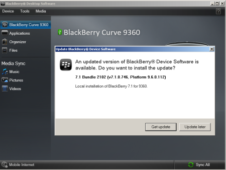 Blackberry curve 9360 update phone software | vodafone australia.