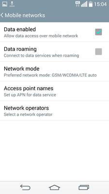 Android LG Configuration
