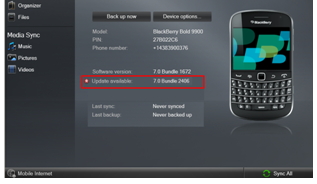 BlackBerry Torch 9860 update