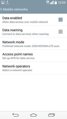 Mobile service configuration | Mobile