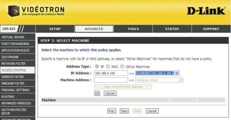 Router configuration videotron Configuration du